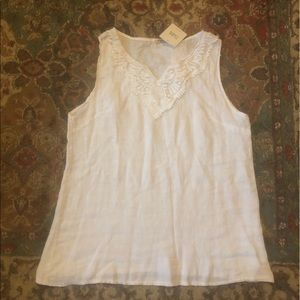NWT: Free People Boho White Lace Tank: Large